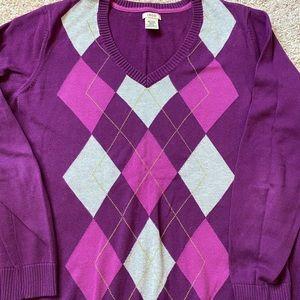 IZOD argyle pullover sweater